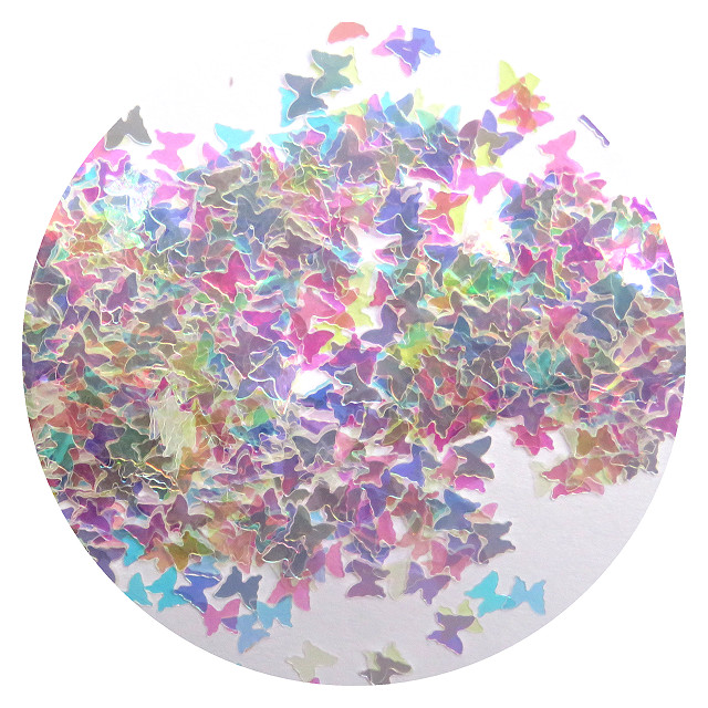 rainbow butterfly holographics glitter by Resin and More