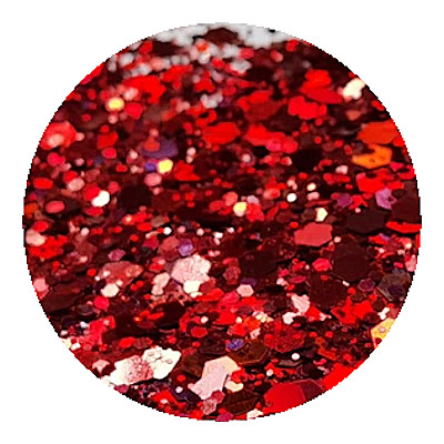 red holographic glitter by Resin and More