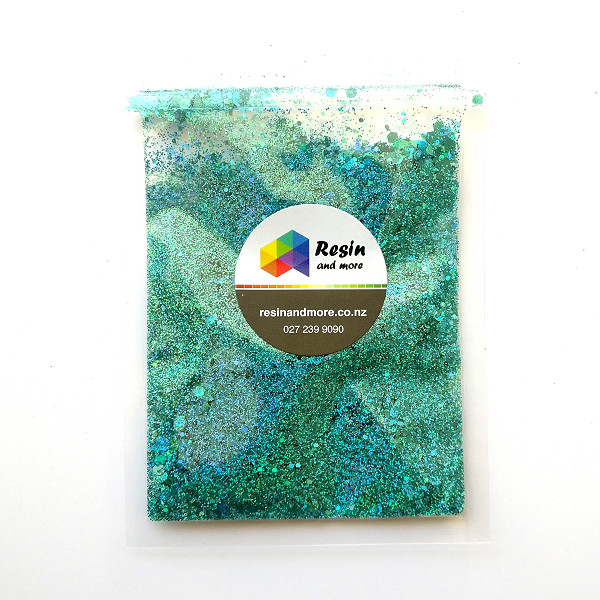 teal holographic glitter RGLB0702H by Resin and More