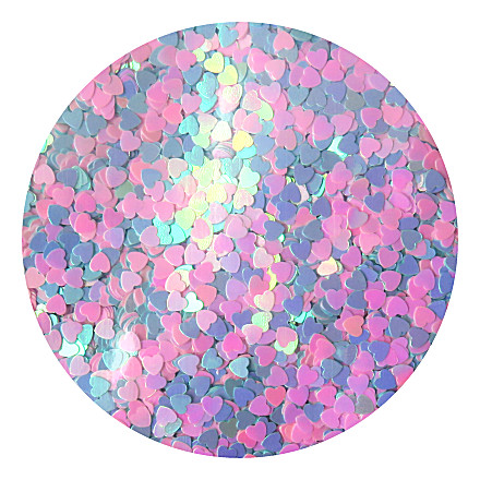 Blue-pink heart glitter RMK23 by Resin and More
