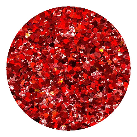 Red heart glitter RM0300 by Resin and More