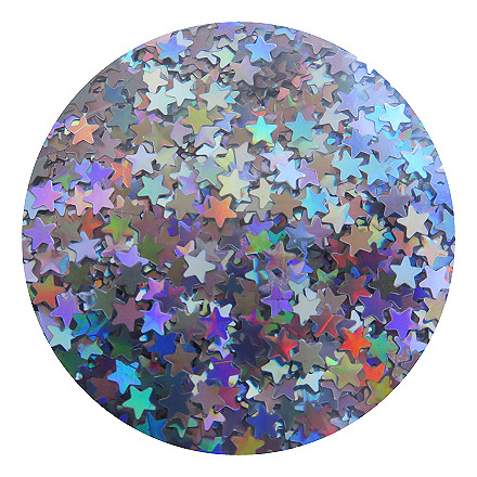 Silver stars glitter RMLB0100S by Resin and More