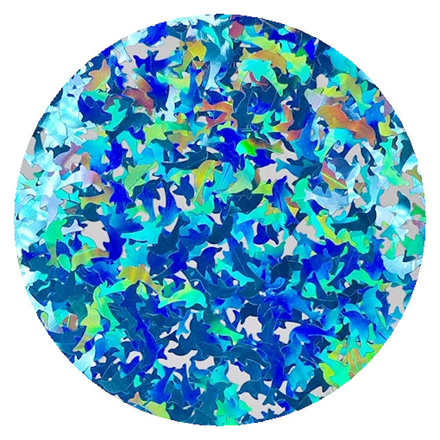blue dolphins holographics glitter RMLB700D