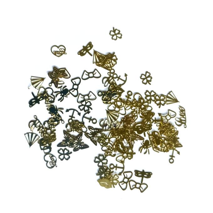 golden shapes metal glitter RMMC209