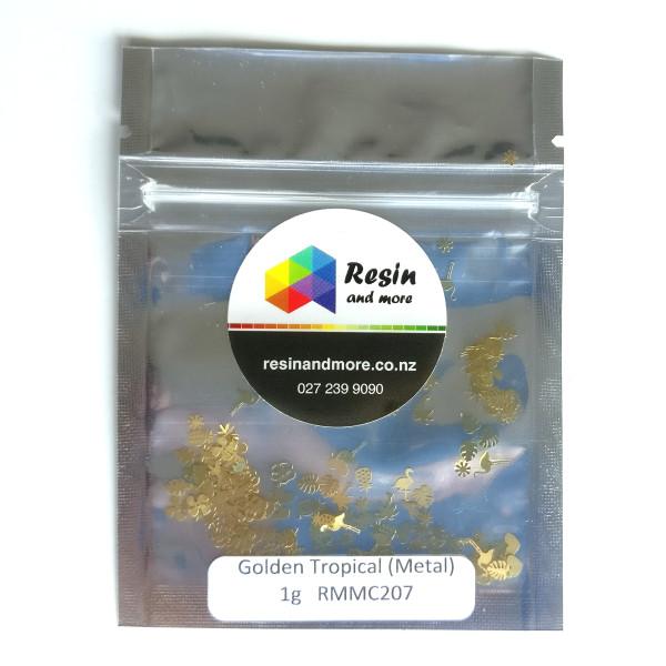 golden tropical metal glitter RMMC205