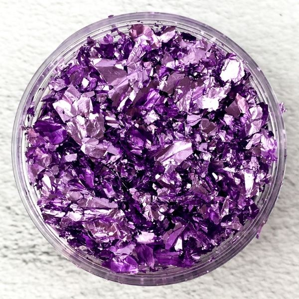 purple metallic foil flakes