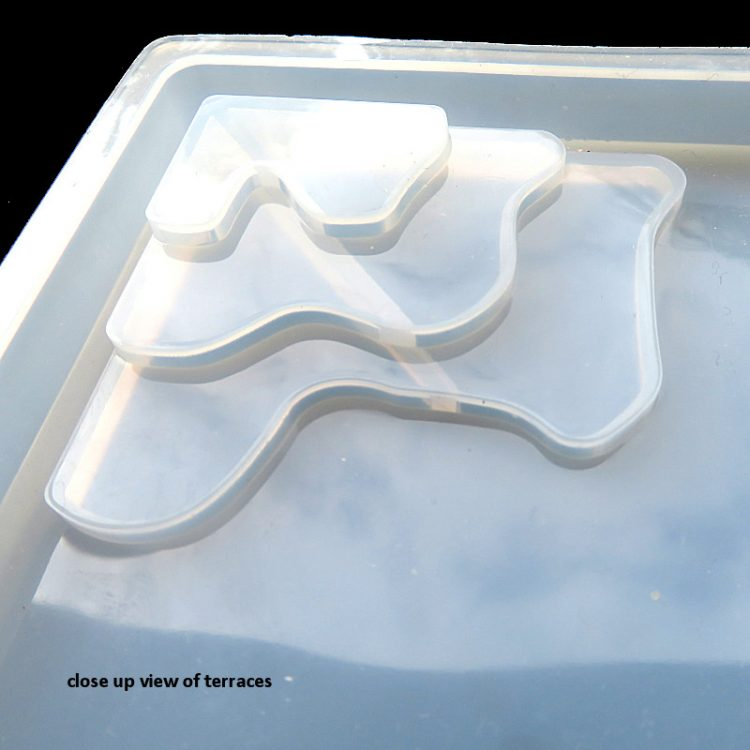 Terrace of silicone mould