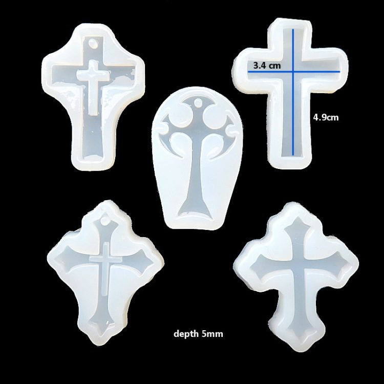 Silicone cross mould set
