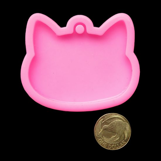 cat head mould keychain