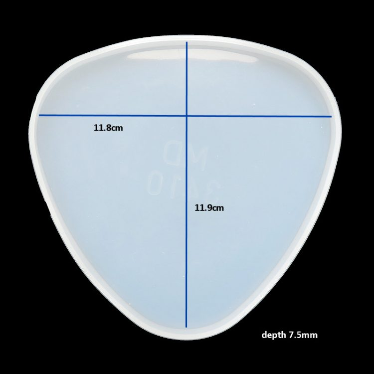 Rounded triangle coaster mould